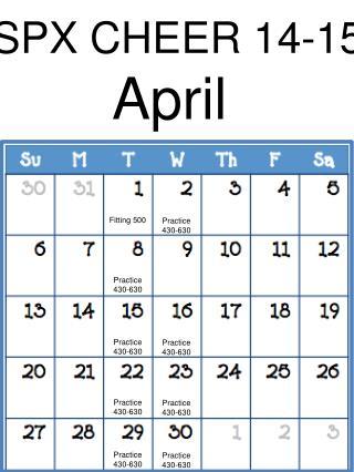 SPX CHEER 14-15 April