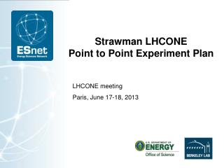 Strawman LHCONE Point to Point Experiment Plan