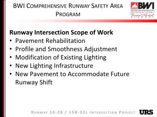 BWI Comprehensive Runway Safety Area Program