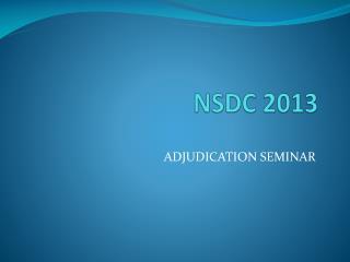 NSDC  2013