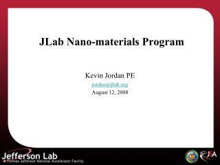 JLab  Nano -materials Program