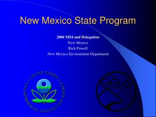 New Mexico State Program