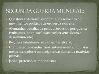 SEGUNDA GUERRA MUNDIAL: