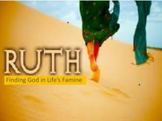 Finding God in Life's Famine