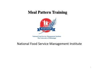 Meal  Pattern Training
