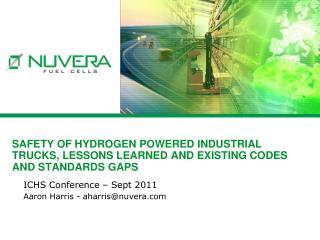 ICHS Conference – Sept 2011 Aaron  Harris - aharris@nuvera.com