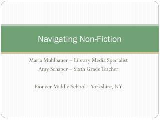 Navigating Non-Fiction