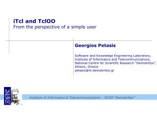 iTcl  and  TclOO From the perspective of a simple user