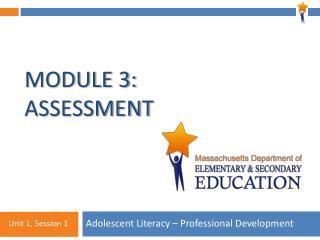 Module 3: Assessment