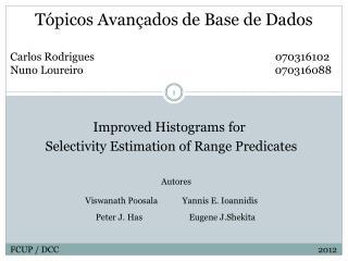 Tópicos Avançados de Base de Dados