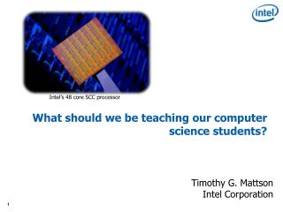 What should we be teaching our computer science students?