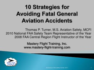 10 Strategies for Avoiding Fatal General Aviation Accidents