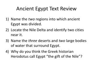 Ancient Egypt Text Review