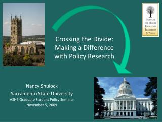 Crossing the Divide: Making a Difference  with Policy Research