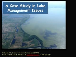 A Case Study in Lake Management Issues