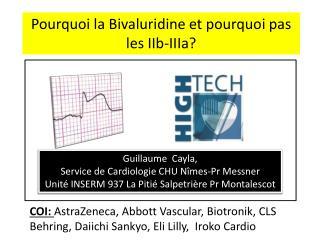 Guillaume   Cayla ,  Service de Cardiologie CHU Nîmes-Pr Messner