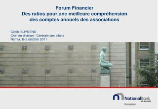 Forum Financier Des ratios pour une meilleure compr�hension  des comptes annuels des associations