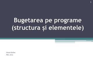 Bugetarea pe programe  ( structura  și elementele )