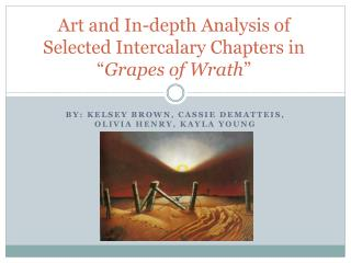 """Art and In-depth Analysis of Selected Intercalary Chapters in """" Grapes of Wrath """""""