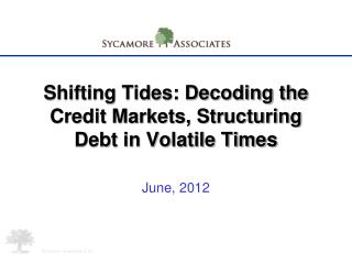 Shifting Tides: Decoding the Credit Markets, Structuring Debt in Volatile Times