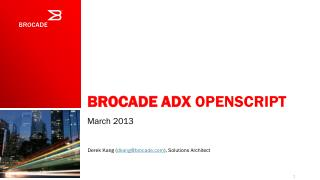 Brocade ADX  Openscript