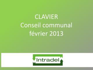 CLAVIER Conseil communal février 2013