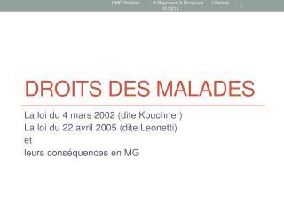 DROITS DES MALADES