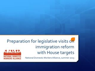 Preparation for legislative visits on immigration reform  with House targets