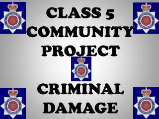 CLASS 5  COMMUNITY PROJECT CRIMINAL DAMAGE