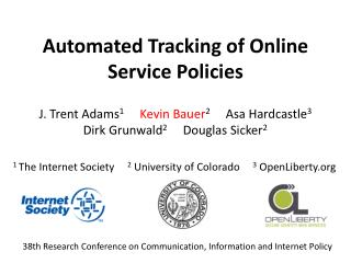 Automated Tracking of Online Service Policies