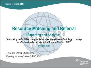 Resource  Matching and Referral Reporting and Analytics