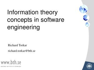 Information  theory concepts in software engineering