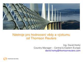 N ástroje pro hodnocení vědy a výzkumu                 od Thomson Reuters