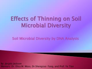 Effects of Thinning on Soil Microbial Diversity