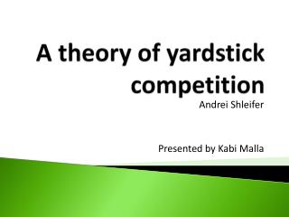 A theory of yardstick competition