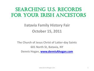 Searching U.S. Records for your Irish Ancestors