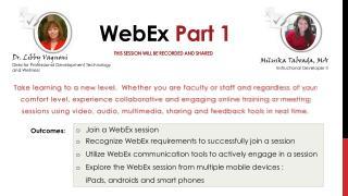 WebEx  Part 1
