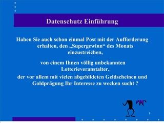 Datenschutz Einf hrung