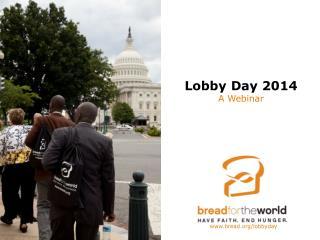 Lobby Day 2014 A Webinar