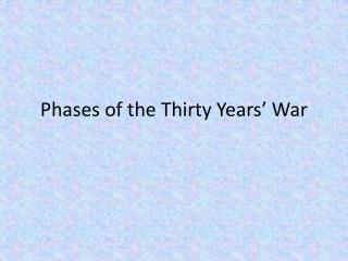 Phases of the Thirty Years' War