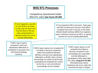 WSS 971 Processes Competency Questioned Under WSS 971.14(2)- Use Form CR-205