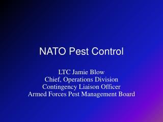 NATO Pest Control