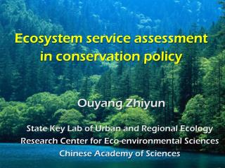 Ecosystem service assessment in conservation policy