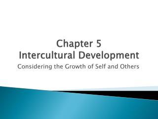 Chapter 5 Intercultural Development
