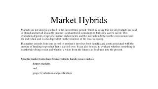 Market Hybrids