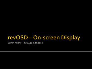 revOSD  – On-screen Display