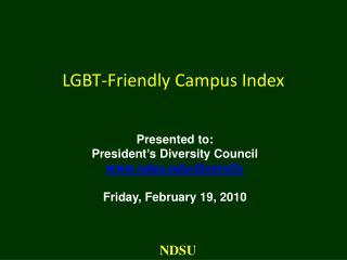 LGBT-Friendly Campus Index