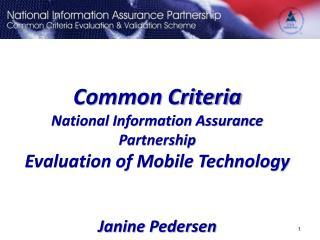 Common Criteria Background