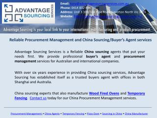 Procurement Management - Advantage Sourcing Services