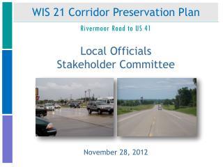 WIS 21 Corridor Preservation Plan